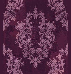 vintage baroque pattern background rich vector image