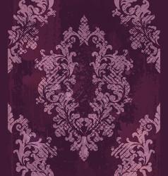 vintage baroque pattern background rich vector image