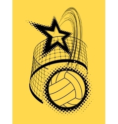 Volleyball super star design vector