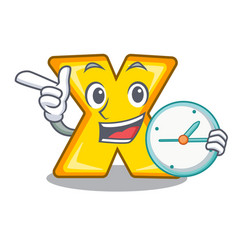 With clock cartoon multiply of a delete vector