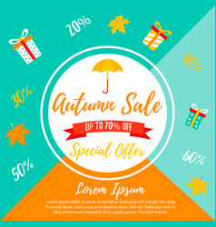 autumn sale retail template promotion advertising vector image
