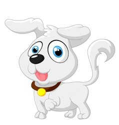 Cute cartoon baby dog posing vector image