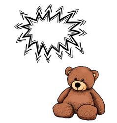 teddy bear-100 vector image vector image
