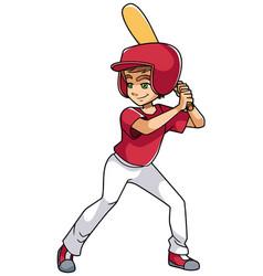 baseball batter boy vector image