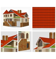 Details of house in section vector image vector image