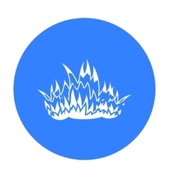 Fire icon black Single silhouette fire equipment vector image vector image