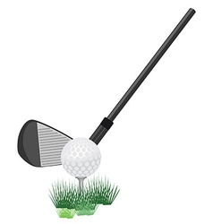 Golf ball and club vector image vector image