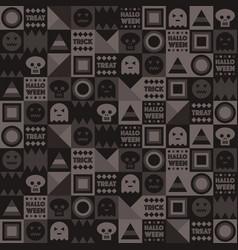 halloween geometric pattern vector image vector image