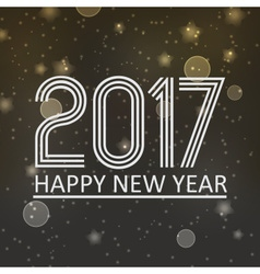 happy new year 2017 on dark night bokeh background vector image vector image