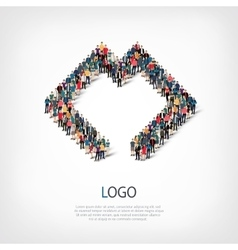 logo people 3d vector image vector image