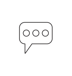 Message and speech bubbles line icon modern sign vector