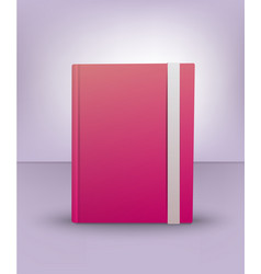 realistic 3d pink book diary notebook art vector image