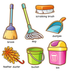 cleaning supplier vocabulary vector image vector image