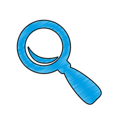 lupe magnifying glass vector image