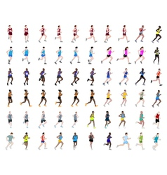 runners collection vector image vector image