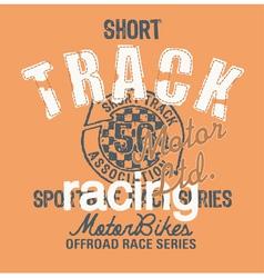 Short track racing vector image vector image