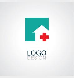 square plus medical logo vector image