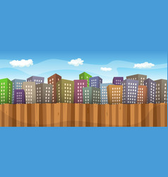 summer or spring cityscape background vector image