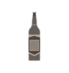 beer bottle glass isolated background drink vector image