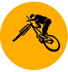 bicycle mtb trick jump vector image