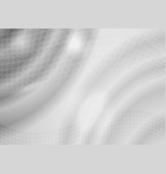 gray abstract waves background vector image