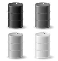 Oil barrels icon set vector image vector image