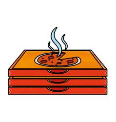 pizza flat scribble vector image vector image
