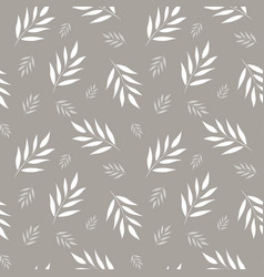 seamless abstract floral pattern gray and white vector image vector image