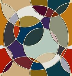 Seamless texture of circular items vector image