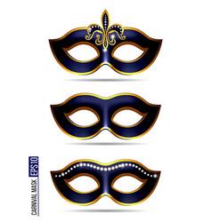 set of carnival mask vector image