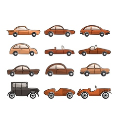 Vintage cars vector image vector image
