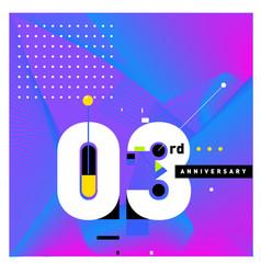 3 years anniversary celebration design template vector