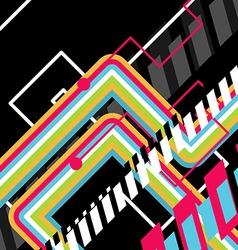 abstract disco art vector image
