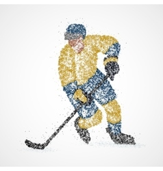abstraction hockey ice puck vector image