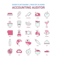 Accounting auditor icon dusky flat color vector