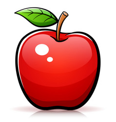 Apple design drawing isolated vector