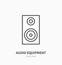 audio speakers flat line icon music equipment vector image