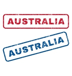 Australia Rubber Stamps vector image
