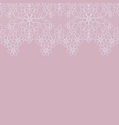background lace border vector image