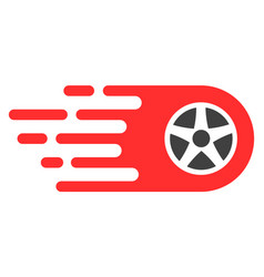 Bolide wheel with fast speed effect vector