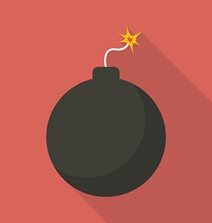 Bomb with sparkle vector image