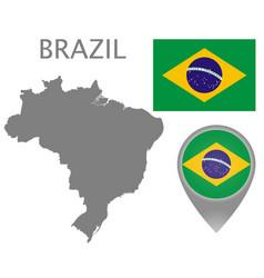 brazil blank vector image