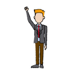 Business man character campaing staff people vector