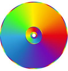 Cd dvd rainbow disc isolated on transparent vector