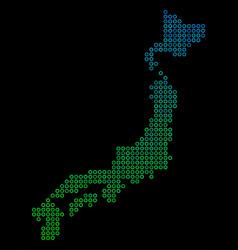 circle dot japan map vector image