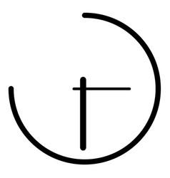 clock icon black color icon vector image