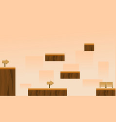 collection game background style wood vector image