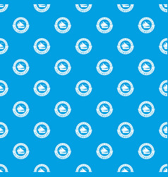 columbus day pattern seamless blue vector image