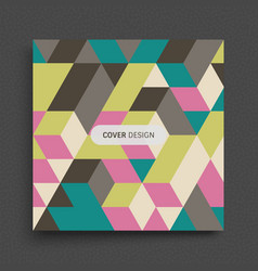 cover design template 3d blocks structure vector image