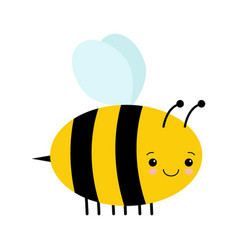 cute cartoon bee isolated on white vector image
